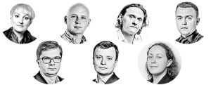 Agnieszka Burzyńska, Michał Majewski, Cezary Bielakowski, Piotr Nisztor, Sylwester Latkowski, Grzegorz Sadowski i Joanna Apelska